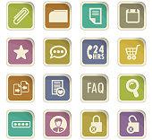 E-commerce interface icons set