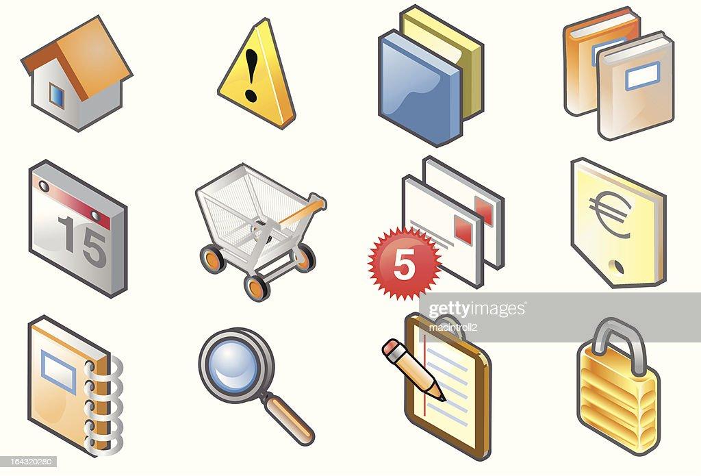 E-commerce isometric icons