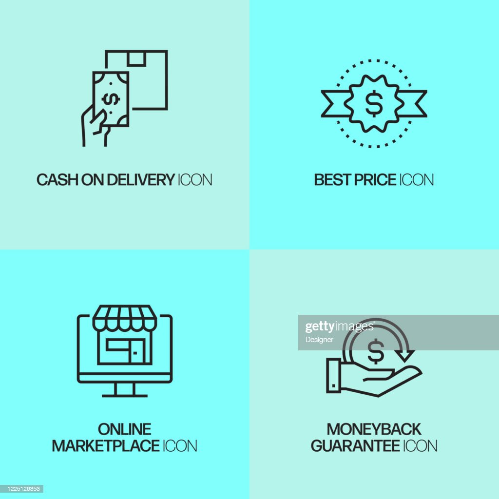 ecommerce online shopping digital marketing related modern vector icons high res vector graphic getty images https www gettyimages dk detail illustration commerce online shopping digital marketing royalty free illustration 1225126353