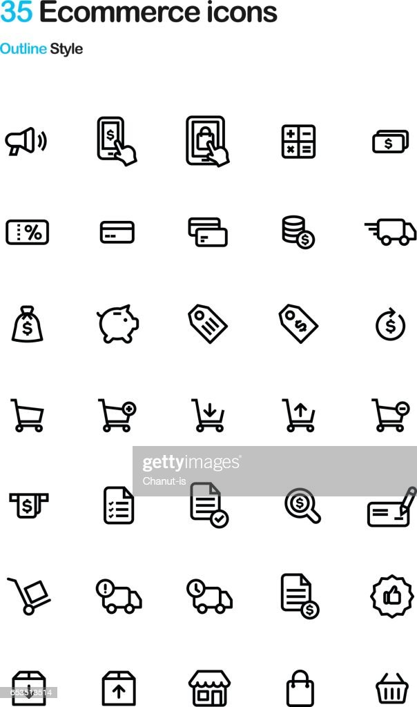 E-Commerce Outline Icon Pack