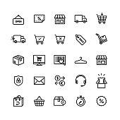 E-commerce Shop On-line Icon Set