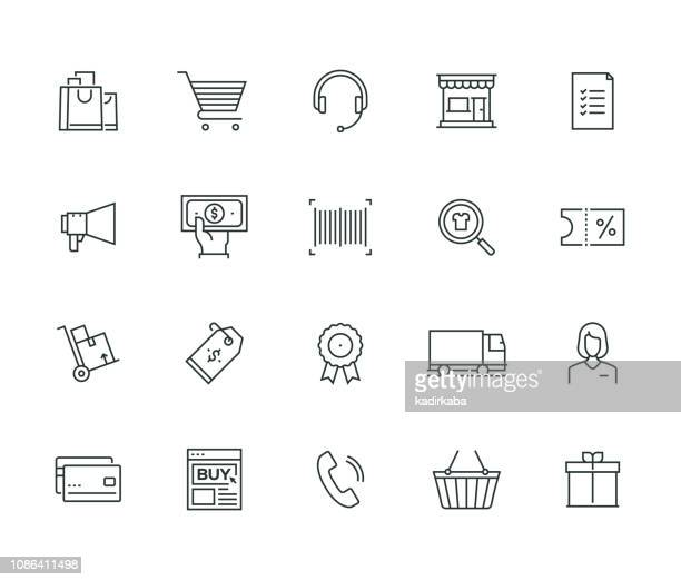 e-commerce thin line series - shipping stock illustrations