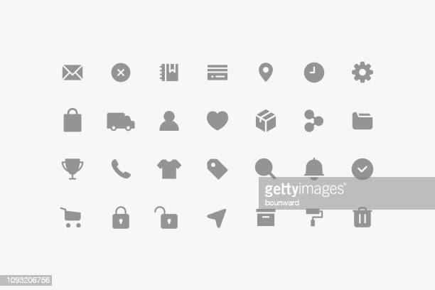 e-commerce & user interface icons - e commerce stock illustrations
