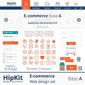 E-commerce web design elements