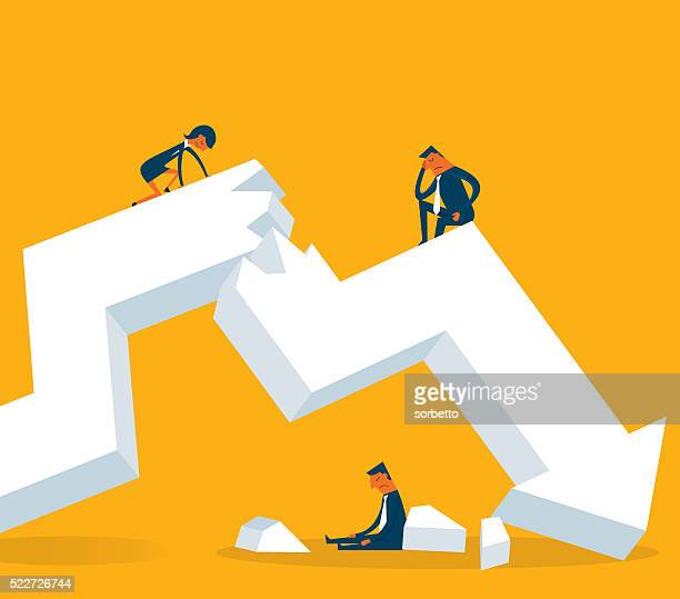 economic crisis - crisis stock illustrations