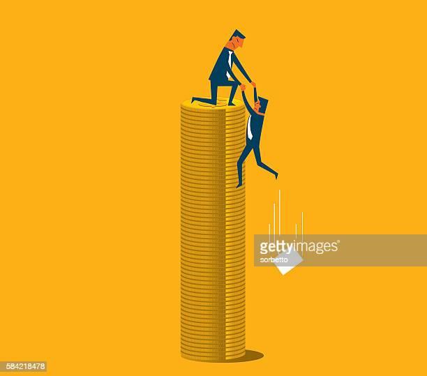 economic crisis - deterioration stock illustrations, clip art, cartoons, & icons
