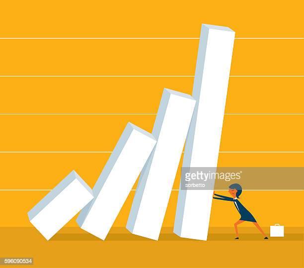 wirtschaftliche krise - rezession stock-grafiken, -clipart, -cartoons und -symbole
