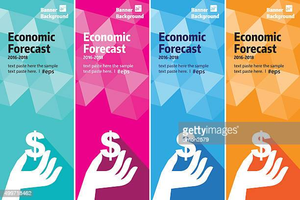 Economic Finance banner set