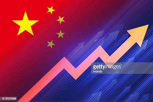 economic growth(china) - population explosion stock illustrations