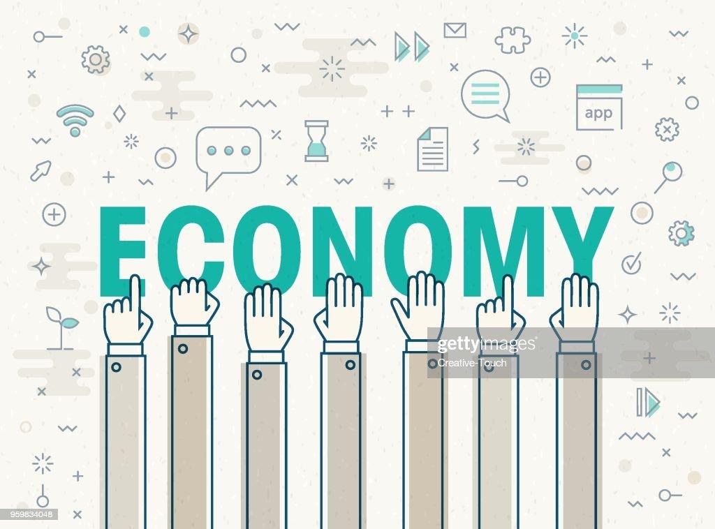 Economy : Stock-Illustration