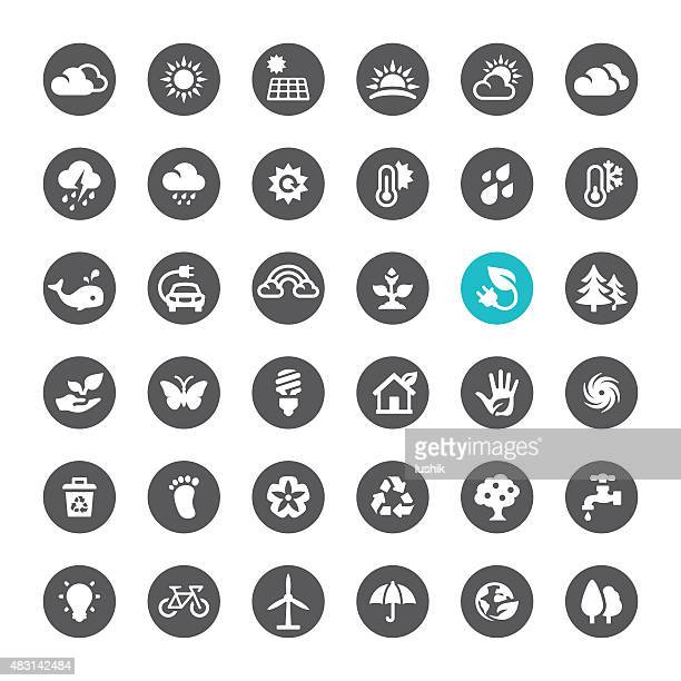 Ecosystem and Technology vector icons