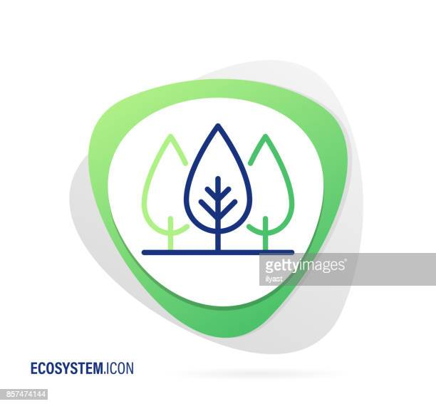 ilustrações de stock, clip art, desenhos animados e ícones de ecosystem icon - desmatamento