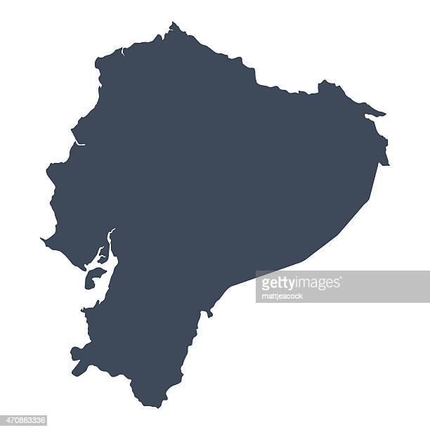 エクアドル国マップ - エクアドル点のイラスト素材/クリップアート素材/マンガ素材/アイコン素材