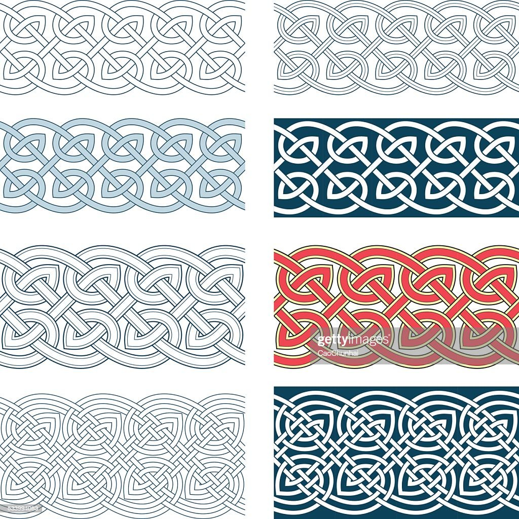 Edges of medieval style(Celtic knot)
