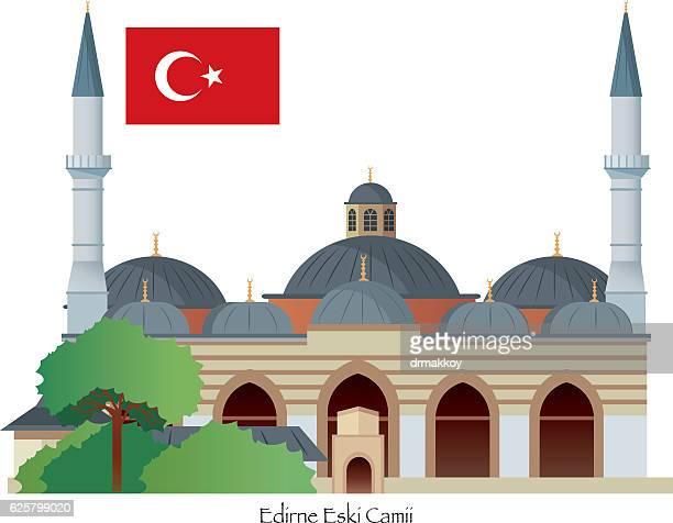 edirne mosque - edirne stock illustrations