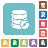 Edit database flat icons