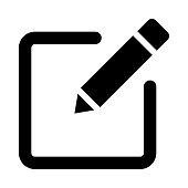 edit thin line vector icon