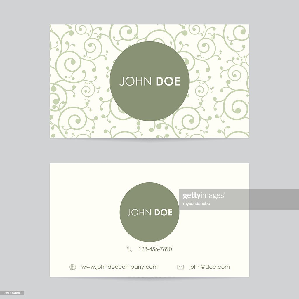 Editable business card template vector art getty images editable business card template vector art wajeb Images
