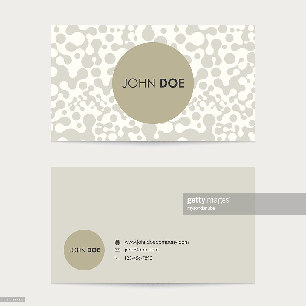Editable Business Card Templates In Beige And Cream Vector Art ...