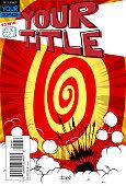 Editable comic book cover template