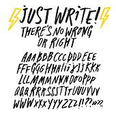 Editable doodle style font set