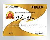 editable golden certificate