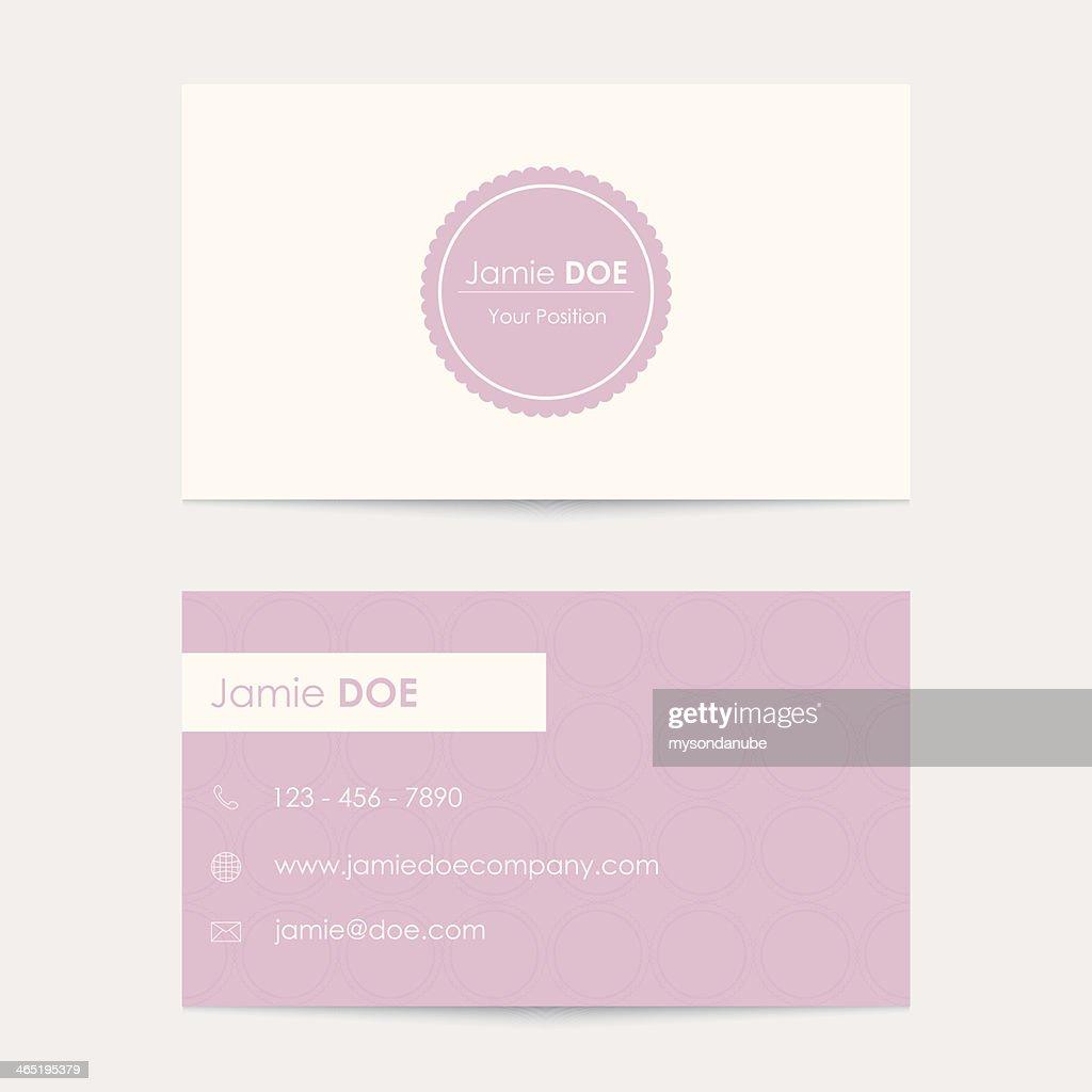 Editable vector business card template vector art getty images editable vector business card template vector art cheaphphosting Image collections