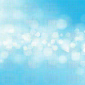 Editable vector illustration of light clouds in a blue sky