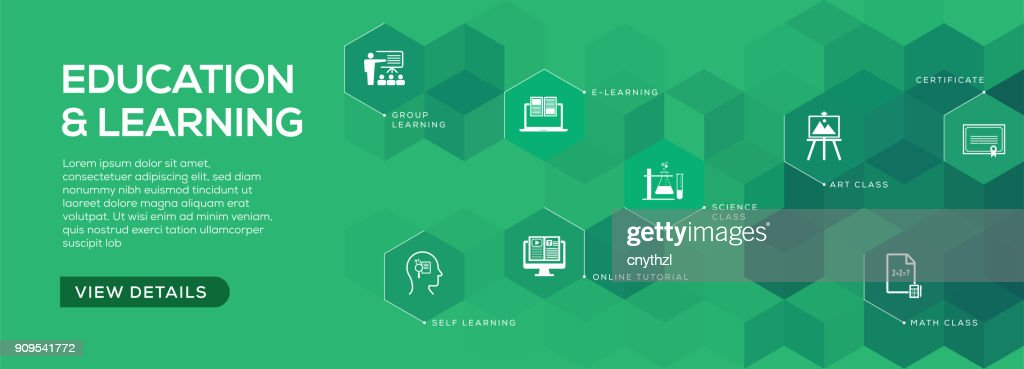 education and learning banner design vector art getty images