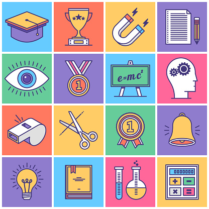 Education and Learning Icon Set - gettyimageskorea