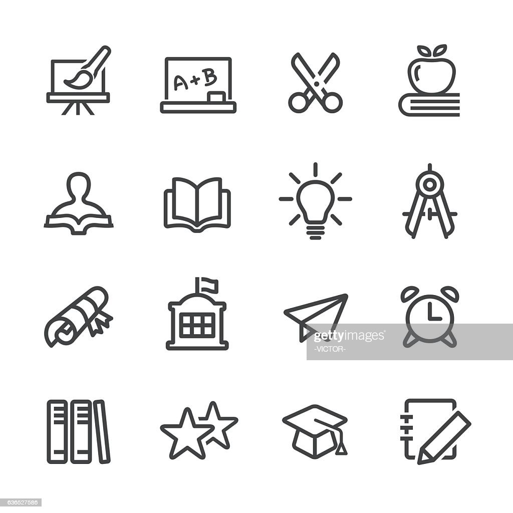 Education and School Icon - Line Series : stock illustration