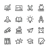 Education and School Icon - Line Series