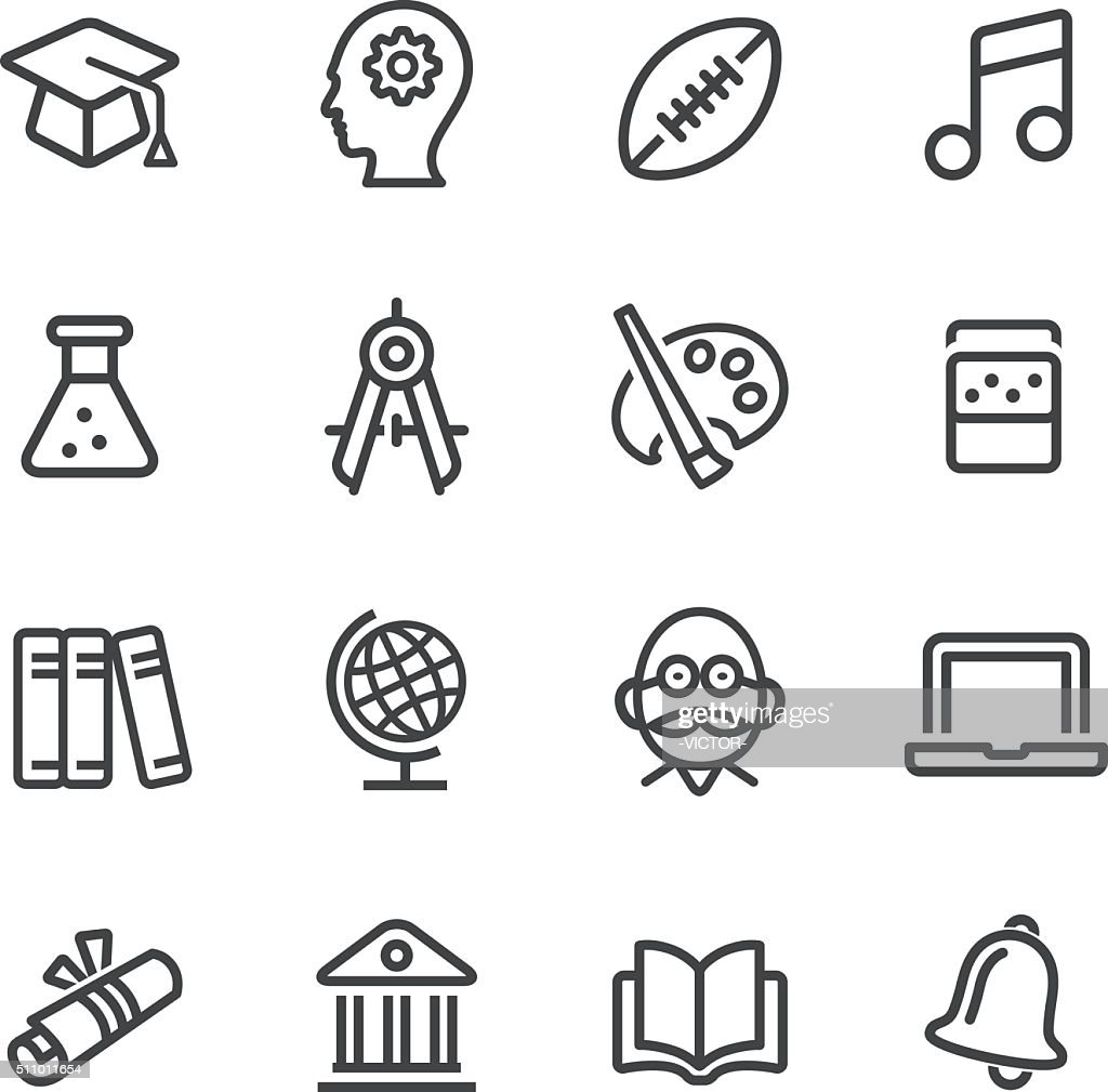 Education and School Icons - Line Series : stock illustration