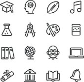 Education and School Icons - Line Series