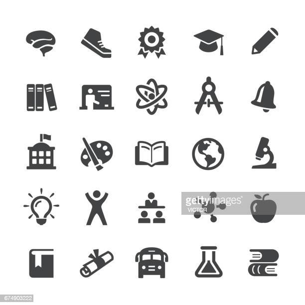 Education and School Icons Set - Smart Series