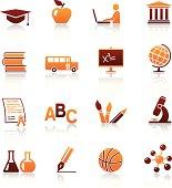 Education and school vector icon set