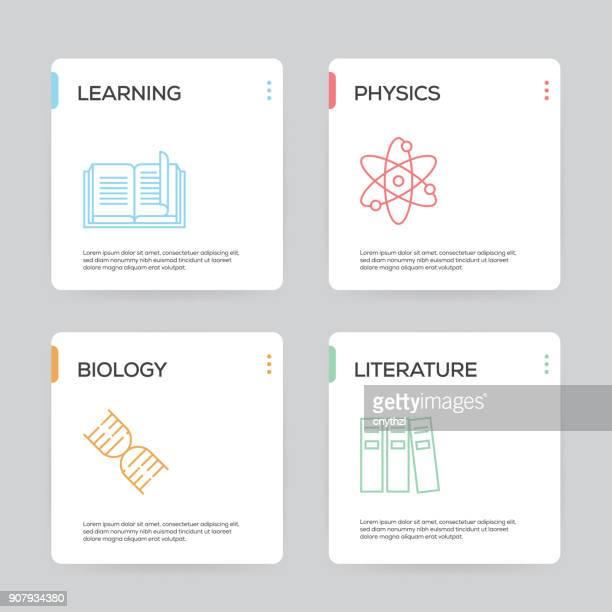 Bildung und Wissenschaft-Infografik Design-Vorlage