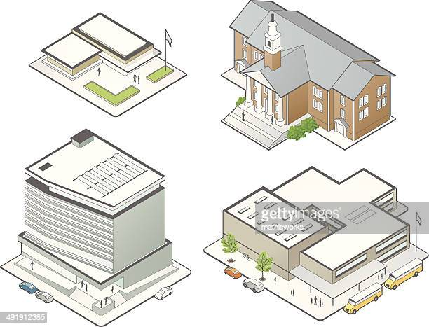 Education Building Illustrations