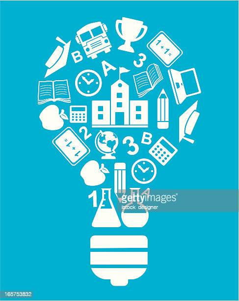 education bulb concept - istock images stock illustrations