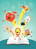 Education Characters Jump out Book, Science Program