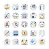 Education Colored Icons 1