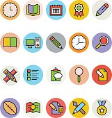 Education Colored Vector Icons 6