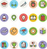 Education Colored Vector Icons 7