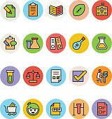 Education Colored Vector Icons 9