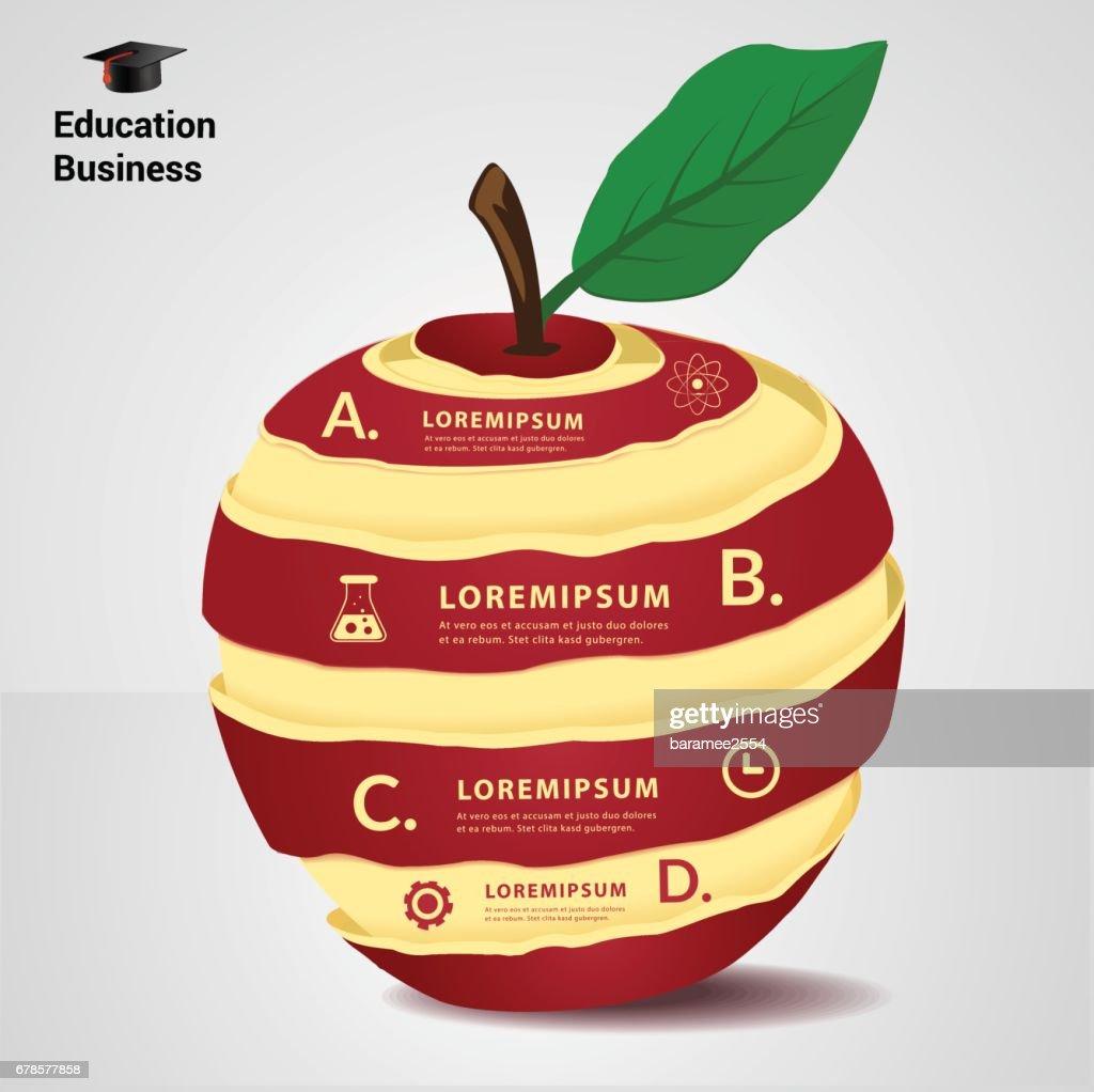 education concept infographic design element.