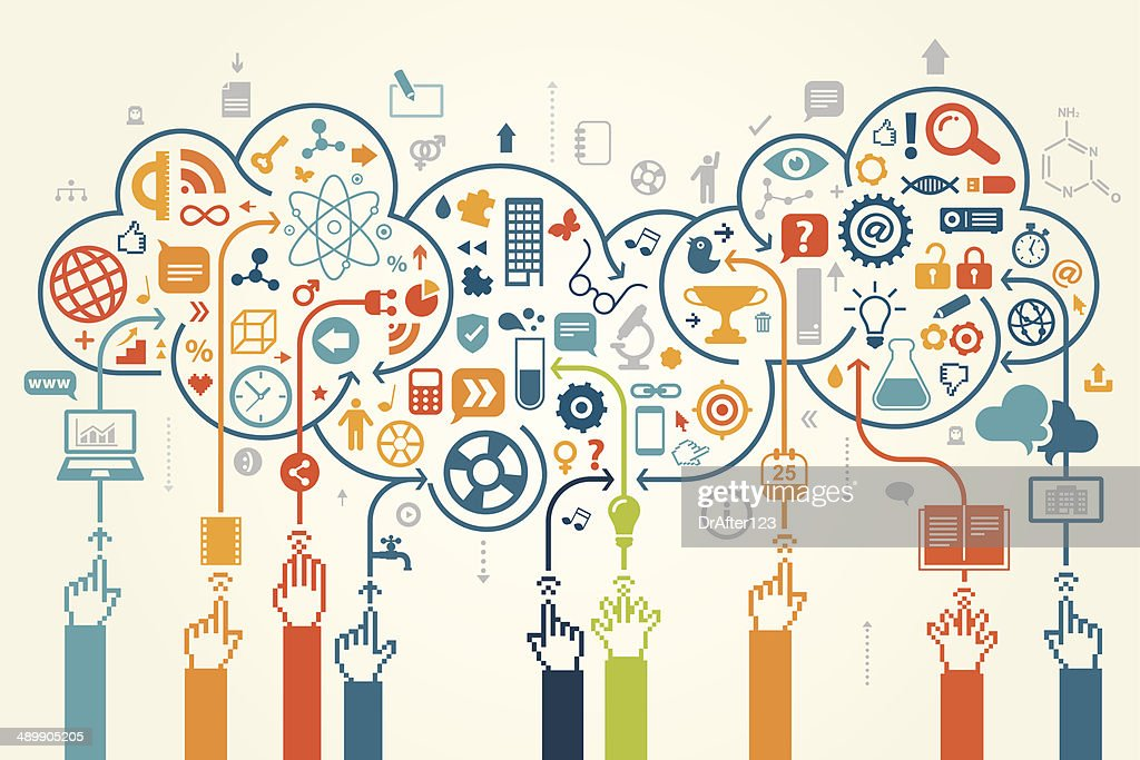 E Education Concept : stock illustration