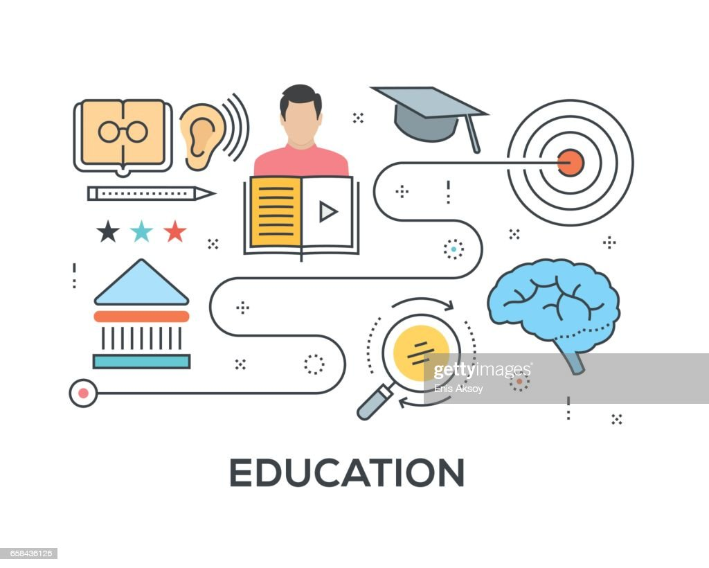 Education Concept with icons