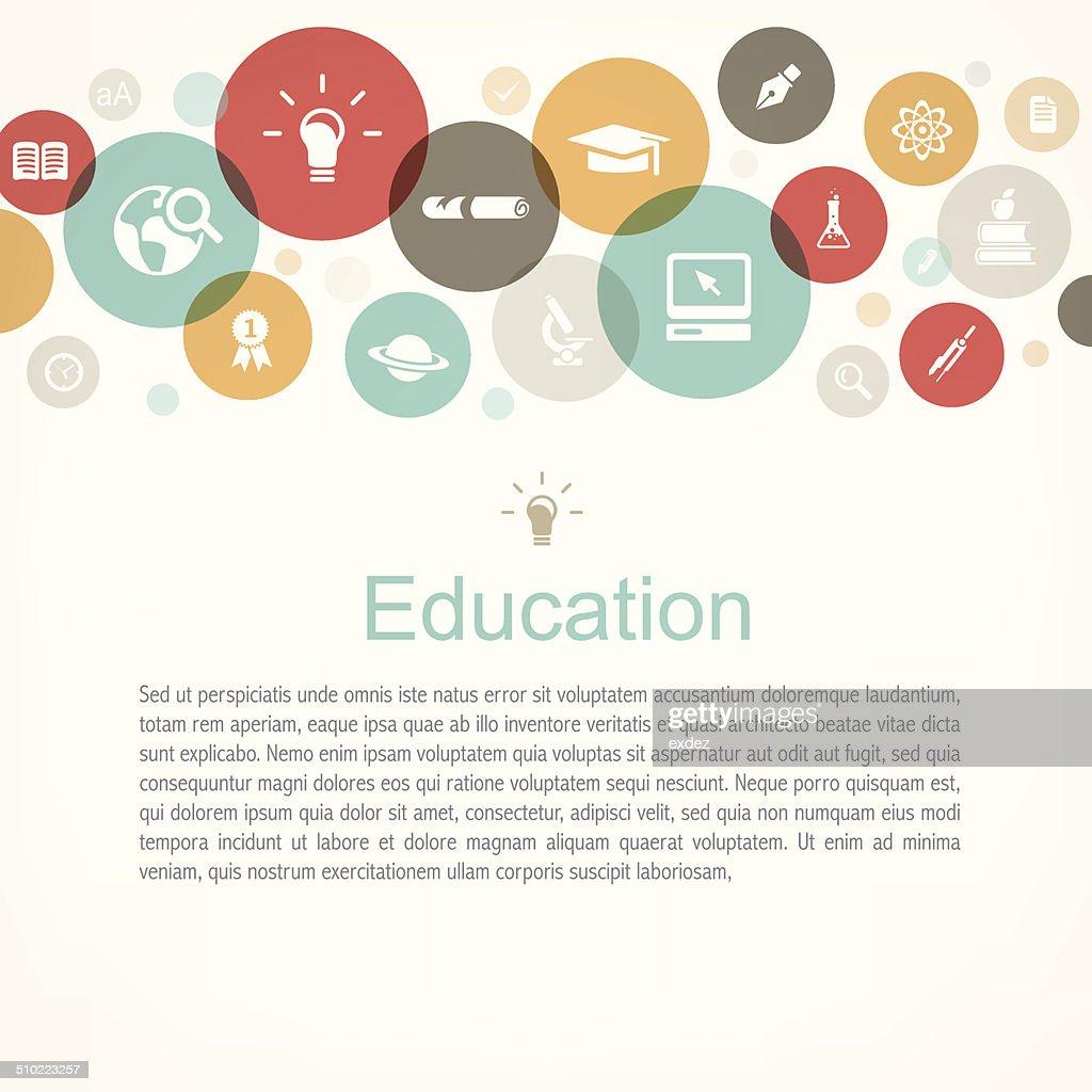 Education copy space