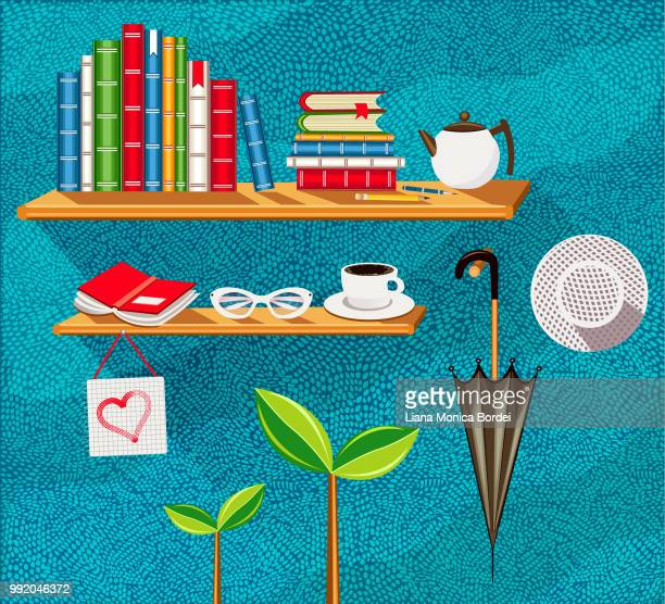 education corner - encyclopaedia stock illustrations, clip art, cartoons, & icons