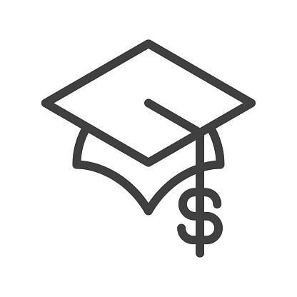 Education cost line icon - gettyimageskorea